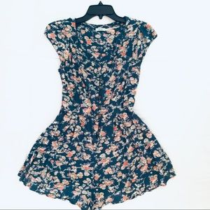 Kimchi Blue, Urban Outfitters Teal Floral Romper